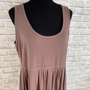 Mercer & Madison brown empire tunic dress plus 2x